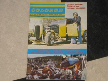 COLOROD nr 4 1974 Hot Rod Custom Harley Davidson Trike Ford