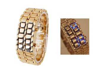 Golden Iron Digital LED Klocka - Armbandsur
