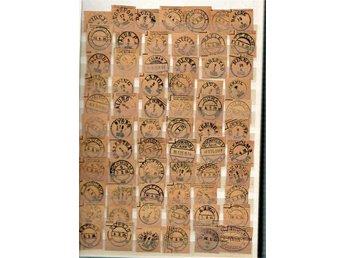 Insticksbok med 540 lösklippta stämplar, mycket Danmark - Huskvarna - Insticksbok med 540 lösklippta stämplar, mycket Danmark - Huskvarna
