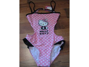 Bad Badbyxor Bikini Bad underbyxor Hello KItty rosa med prickar 11-12 år THN