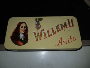 Antik cigarr burk Willem II Anita