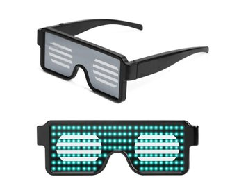 LED Light Up Glasses for Nightclub Halloween Christmas Birthday Party green