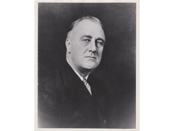 FRANKLIN DELANO ROOSEVELT 32nd PRESIDENT OF USA VINTAGE PORTRAIT PHOTOGRAPH
