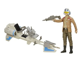 "Poe Dameron med Speeder Bike 12"" 30cm Star Wars Episode VII Ny Se Hit Starwars"