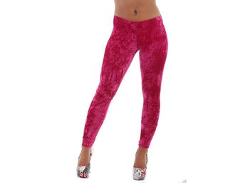 Leggings plysch pink 3205