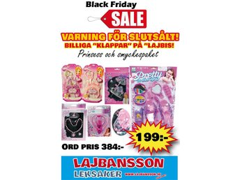 BLACK FRIDAY PRINSESS & SMYCKESPAKET Ord pris 385.00:-