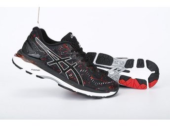 Asics strl 43 GEL KAYANO 23 träningsskor Nya black with red - Houston - Asics strl 43 GEL KAYANO 23 träningsskor Nya black with red - Houston