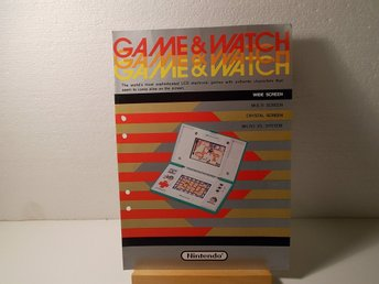 Broschyr - Nintendo Game & Watch 1987