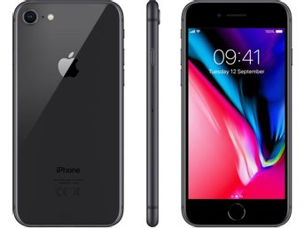 Apple X iPhone 8 256GB Space Grey olåst 1 vecka gammal