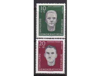 (FR1060) - DDR/Tyskland, 1960, 'Victims of the Nazis', POSTFRISKT. 2pcs,