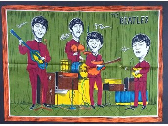 The Beatles - Handduk/duk - 60-tal - mycket udda objekt!