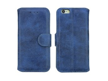 Mocka Style flip case iPhone 5 - Blå