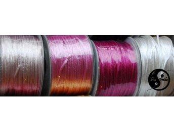 12 m satinsnöre Rosa nyanser,Crem-vit,4x3=12 m,snöre, rattail, smältbar,makrame - Mörarp - 12 m satinsnöre Rosa nyanser,Crem-vit,4x3=12 m,snöre, rattail, smältbar,makrame - Mörarp
