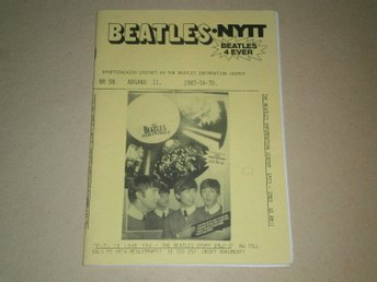 BEATLES-NYTT #58 (April 1983) - Fint Skick!