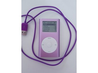 Lila/rosa Apple iPod mini modell A1051 4GB med USB sladd