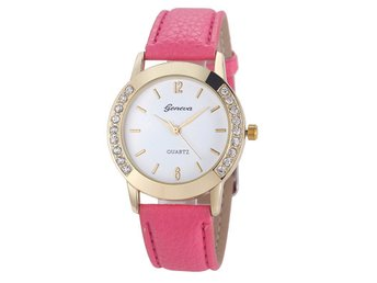 Luxury Dress Clock Female Brand Ladies Watch Diamond Analog Leather Band Quartz