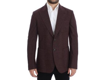 Dolce & Gabbana - Bordeaux wool stretch blazer