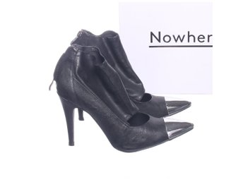Nowhere, Pumps, Strl: 36, Svart/Silverfärgad