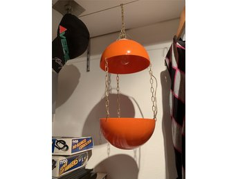 Snygg orange 70-tals retro ampel