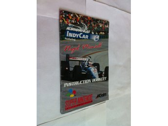 SNES: Indy Cars Featuring Nigel Mansell (Manual Engelsk)