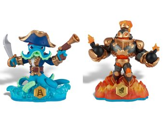 Skylanders Wii PS3 PS4 Figurer SWAP FORCE Wash Buckler &  Blast Zone