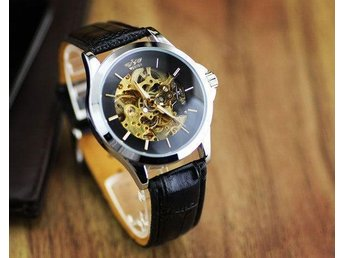 Herrklocka Klocka | Golden Detailed | Automatic Mechanical