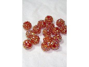 Glitter pärlor 14mm RED GOLD - 4st - Bålsta - Glitter pärlor 14mm RED GOLD - 4st - Bålsta