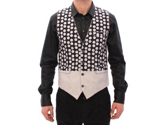 Dolce & Gabbana - Blue Polka Dot Dress Vest Gilet Weste