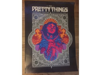 Pretty Things  - konsertaffisch/poster Stockholm 2018 , Rolling Stones
