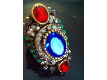 HOT Luxury  multicolor Stone Crystal Female Ring Size 21