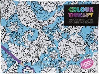 Javascript är inaktiverat. - Halmstad - Omtalade Colour Therapy s fantastiska Anti-Stress målarbok med 20 nya meditativa målarsidor som har visat sig ha avslappnande effekt som gynnar ditt välmående och mycket stressbefriande. Dröm dig bort i en ny värld av fantastiska mönster - Halmstad