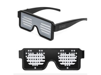 LED Light Up Glasses for Nightclub Halloween Christmas Birthday Party white