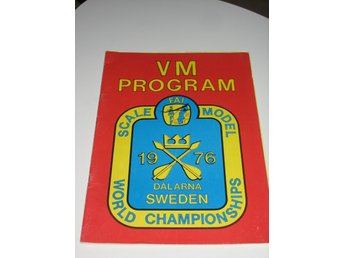 Program Skala Flyg  VM 1976 + Barkarby