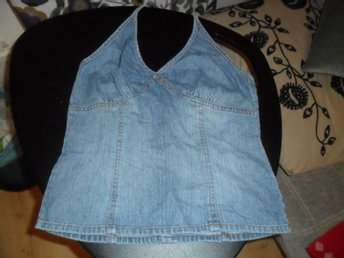 jeans halterneck top i str 36 Hm divided