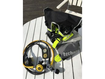 DYKUTRUSTNING AQUALUNG SPIRO TECHNISUB REGULATOR SET & BCD VÄST - NYSKICK!