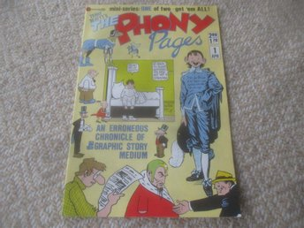 The Phony Pages #1, fakehistoria om serier, 1986