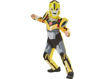 TRANSFORMERS 110/116cl (5-6 år) DELUXE Bumble Bee Dräkt med mask