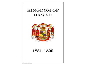 KINGDOM OF HAWAII 1851-1899  PDF DIGITAL  STAMP ALBUM PAGES INGA FRIMÄRKEN!!