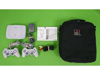 Playstation One Basenhet Med 2 HK & Väska konsol ps1 psx psone 1