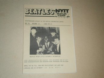 BEATLES-NYTT #78 (September 1986) - Fint Skick!