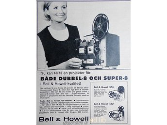 BELL & HOWELL SUPER 8, TIDNINGSANNONS 1966
