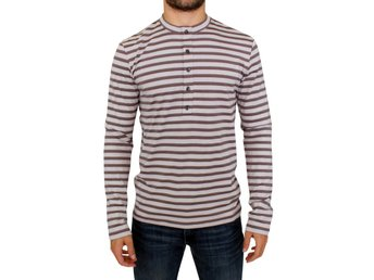 Galliano - Brown striped cotton t-shirt