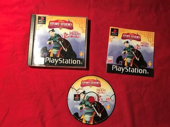 DISNEYS STORY STUDIO MULAN PS1 PLAYSTATION 1 PSONE