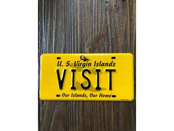 US Virgin Islands registreringsskylt nummerskylt license