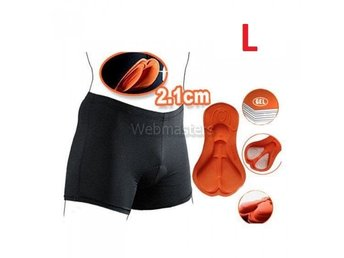 Cykelunderkläder Gel 3D Vadderade shorts Orange Large