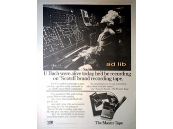 SCOTCH - THE MASTER TAPE, STOR TIDNINGSANNONS 1974