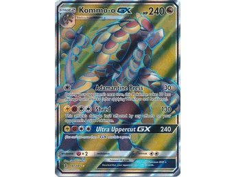 Kommo-o GX - 141/145 - Full Art Ultra Rare Sun & Moon: Guardians Rising