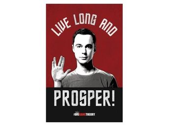 Big Bang Theory Affisch Live Long And Prosper A74