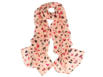 Sjal / Scarf Pink Hearts