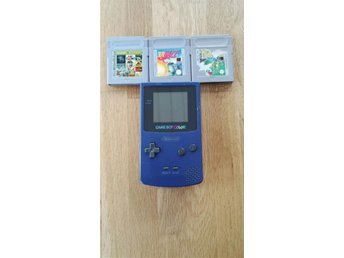 Gameboy Colour Med 3 Spel!